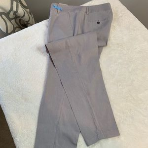 Gray cropped pants that are ready for a new home